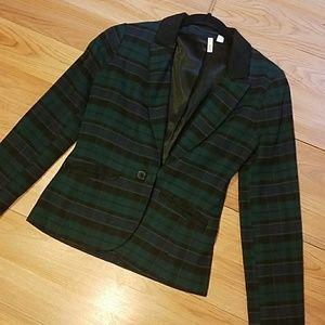 Checkered Frenchie blazer